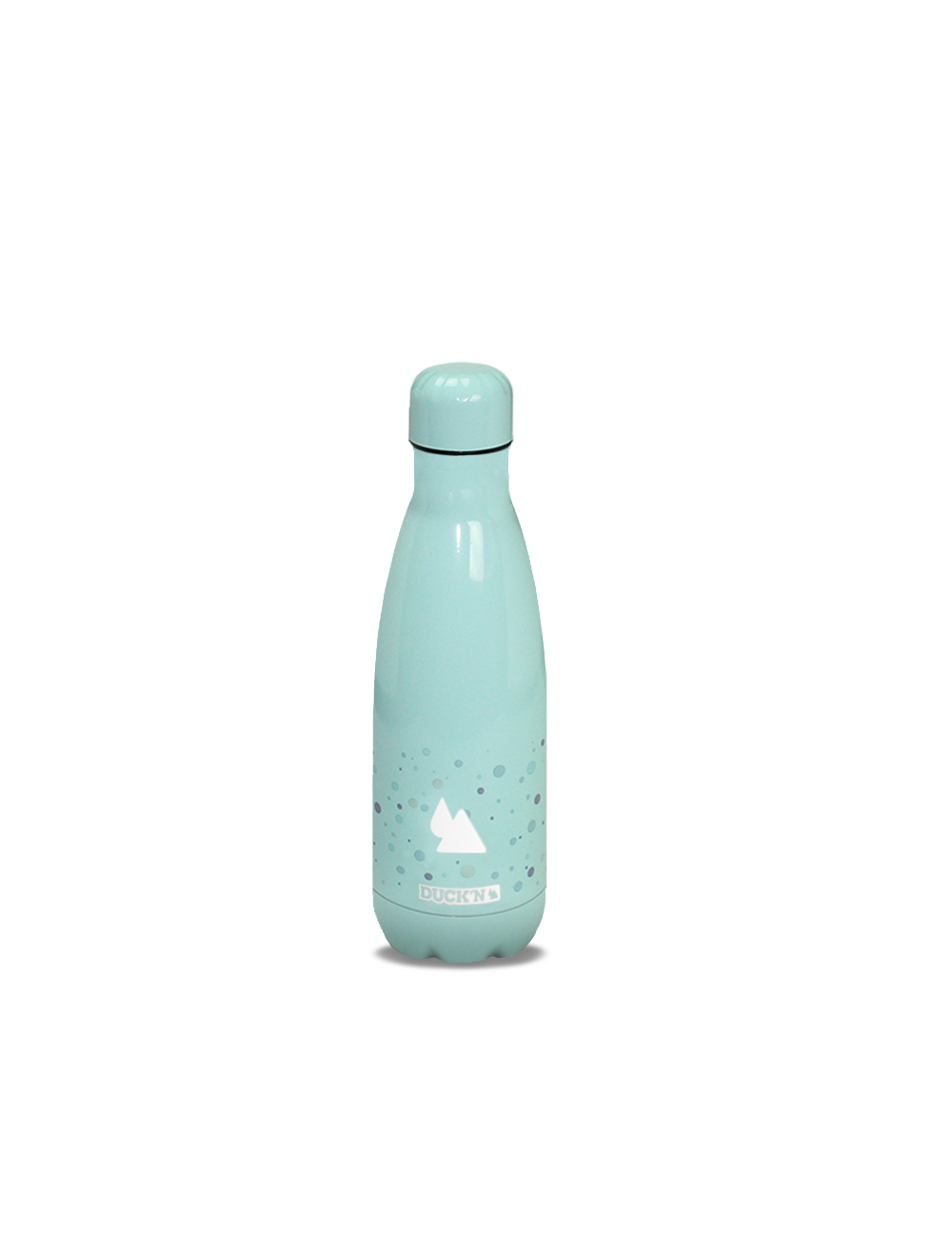 Bouteille Isotherme Duck'n 350ML Turquoise Motif Bulle finition Brillante