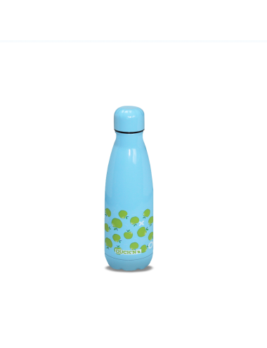 Bouteille Isotherme Duck'n 350ML Turquoise Motif Pomme Verte finition Brillante