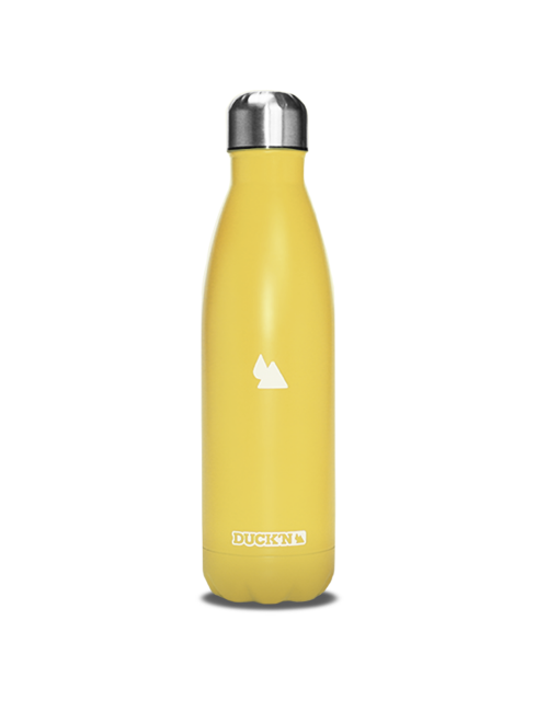 Bouteille Isotherme Duck'n 500ML Jaune Clair finition mate