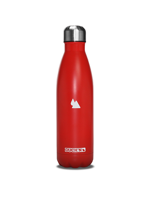 Bouteille Isotherme Duck'n 500ML Rouge finition mate