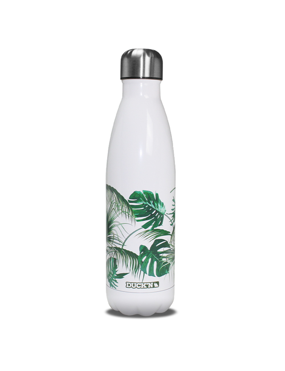 Bouteille Isotherme Blanche Duck'n 500ML Jungle Summer Brillante