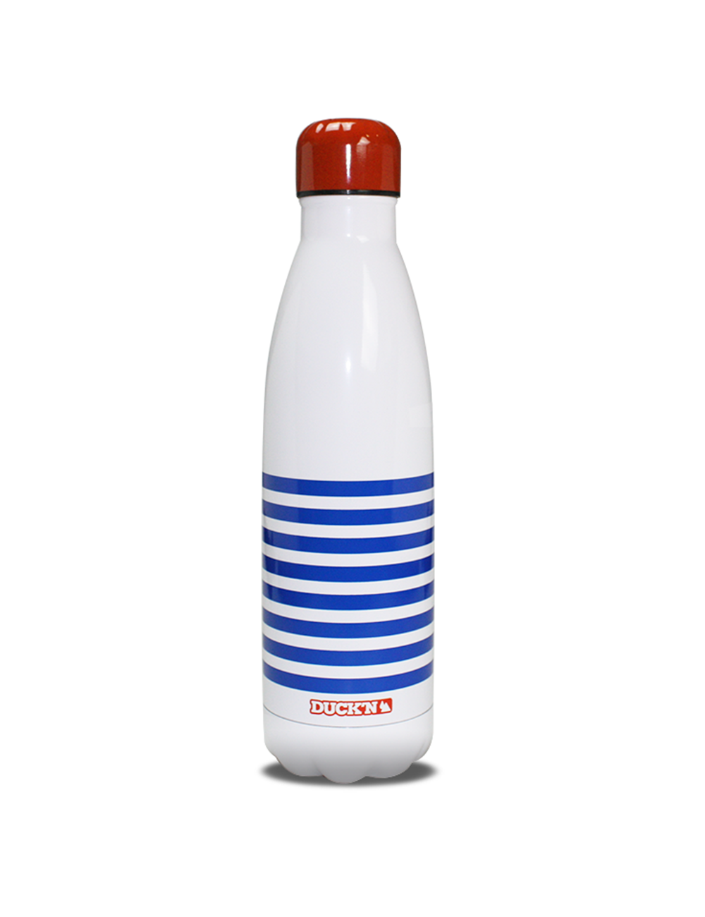 Bouteille Isotherme Blanche Duck'n 500ML Marinière chic Brillante