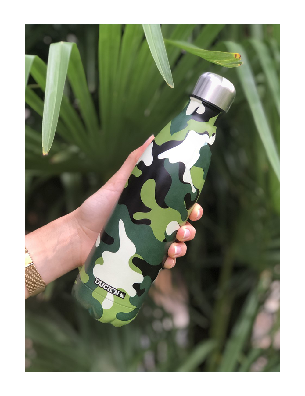 Bouteille Isotherme Duck'n 500ML Motifs Camouflage Militaire finition mate