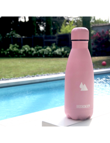 Bouteille Isotherme Duck'n 350ML Full Pink finition mat