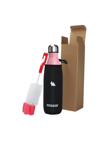 Bouteille Isotherme Duck'n 500ML Rose finition mate